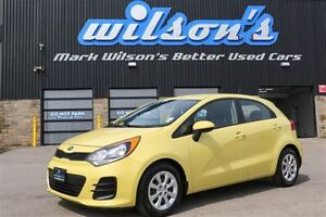 2016 Kia Rio LX+ $40/WK,5.49% ZERO DOWN! NEW TIRES! HATCHBACK!