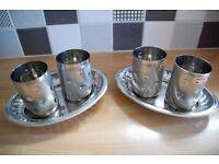 Steel Utensils, Glasses, Copper Pan
