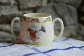 Royal Doulton Bunnikins Peter Rabbit Vintage Children's Kids Mug Tea Party