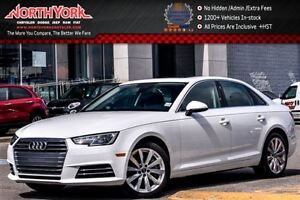 2017 Audi A4 Komfort |Quattro|Conven.Pkg|Leather|Sunroof|Keyles