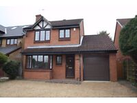 DETACHED HOUSE WITH GARAGE TO LET. Well presented four bedroom house in a quiet residential turning