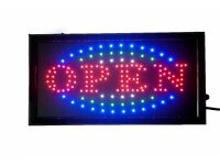 SHOP OPEN BRIGHT LED SIGNs FLASHING OR STATIC WHOLESALE STOCK 2 TYPES