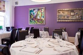 Experienced Full & Part Time Floor Staff Required for Top Glasgow Restaurant!
