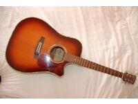 Charvel Jackson SEC-150 TSB Electro Acoustic Guitar