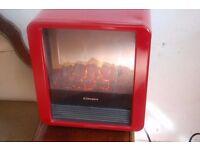 DIMPLEX RED MICRO ELECTRIC FIRE HEATER
