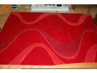 Red Wave Pattern Rug