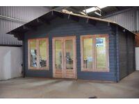 Lugarde Log Cabin 5m x 5m Garden office or Garden home