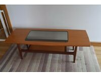 1960s/70s G Plan Coffee Table with glass panel