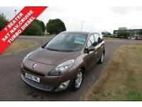 RENAULT SCENIC 1.5 DCi,2010,DYNAMIQUE,7 Seater,Alloys,Sat Nav,Cruise,Bluetooth,USB,55mpg,Very Clean