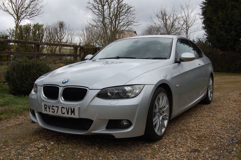 bmw 320i m sport coupe 2008 e92 silver with black interior. Black Bedroom Furniture Sets. Home Design Ideas
