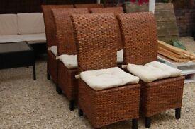 6 Chairs Rattan