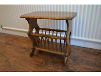 Ercol Solid Wood Magazine Rack / Table