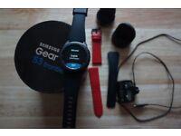 Samsung Gear S3 Frontier Smartwatch SM-R760 Smart Watch + Extra Red strap + Argos warranty