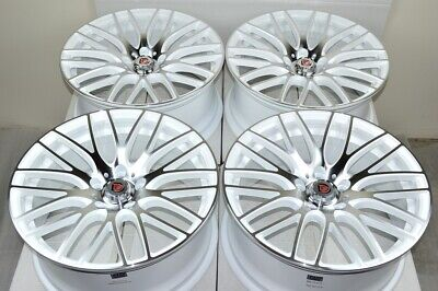 "4 New DDR Zuki 18x8 5x114.3 40mm White Machined 18"" Wheels Rims"