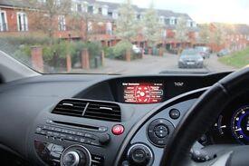 black, sat-nav, hatchback: 1.8 i-VTEC EX Honda Civic 2007