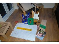 Electric guitar hand built complete with templates, scale drawings etc to make your own guitar.