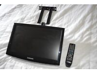 """samsung 19"""" Freeview Tv on Wall bracket"""