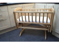 Wooden Anna Glider Crib from John Lewis