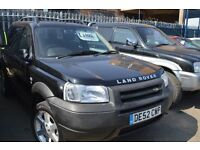 20002 LAND ROVER FREELANDER TD4 ES in Excellent condition 1 YEAR MOT APRIL 2018