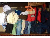 Large bundle of boys clothes aged 18-24months