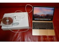 """12"""" Macbook Retina (Gold) 256 GB ssd (Lightly Used) BOXED with accessories"""