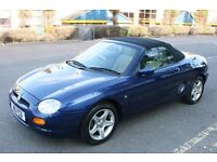 One Off Finest Example MG MGF Low Mileage Private Number