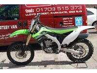 **CHRISTMAS SALE**KAWASAKI KX 450 F ROAD REGISTERED 2013 MODEL**£3400**