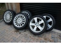 Alloys and winter tyres for sale, Jaguar XF compatible