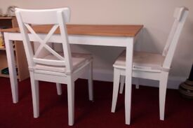 As new IKea table and two chairs