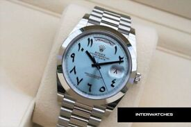 Rolex Day Date Arabic Dial Edition Platinum