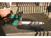 petrol chainsaw in mint condition