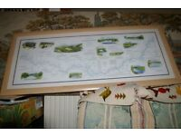 Painting print salmon fishing River Tweed