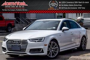 2017 Audi A4 Technik|Quattro|S-Line|Nav|Sunroof|HeadsUp|Bang &