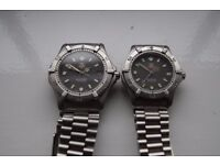 Tag Heuer 2000 automatic mechanical wristwatch - His 'n hers pair - 1980's - Swiss - Classic design