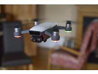 DJI Spark Mini Drone - Alpine White - Only flown for 2hrs 42mins!!