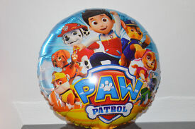 "5 X 18"" Inch Paw Patrol Round Foil Helium Party Balloon Birthday - Dog Chase Sky"