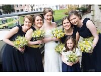 4 yellow soft lace hand dyed bridesmaid sashes