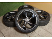 "Genuine Vauxhall Adam 18"" Twister Alloy wheels & Tyres 4x100 Grey & Black Opel"