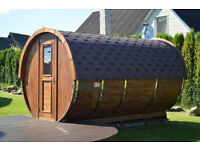 NEW wooden barrel sauna for garden outdoor wood sauna