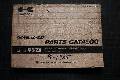 Kawasaki 95z-2 Wheel Loader Parts Manual Book Catalog Spare List Index Shop 1985