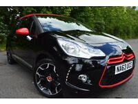 2013[63] CITROEN DS3 E-HDI 1.6 D-SPORT( RED EDITION RACING MODEL ) TWO OWNER BLACK SPORT INTERIOR