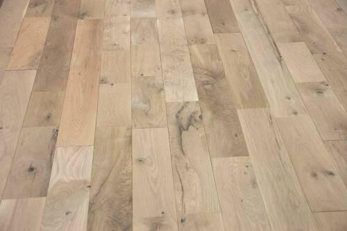 "#2 Common Unfinished 7"" x 3/4"" Solid White Oak Hardwood Flooring $4.99/Sqft"