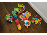 Lamaze soft toy selection and vtech crawl and learn