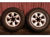 NISSAN TERRANO/FORD /MITSUBISHI ALLOY WHEELS AND TYRES X3 +1STEEl