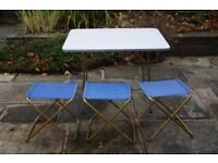 Lafuma Camping Table and Three Folding Stools