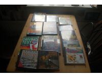 Computer games,Tomb Raider,The Sims x3(, Frogger,Cluedo,Catz,Dogs & others