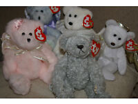 5 Ty Beanie Baby and Attic Treasures Teddy Bears All Angels Beautiful!