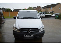 mercedes benz vito compact panel van, low mileage, mot and tax