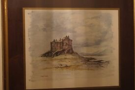 Framed Watercolour of Duart Castle, Isle of Mull.