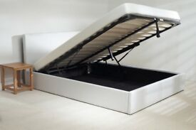 Delivery available. Brand New 6ft White Leather Ottoman Super king bed frame. RRP £400